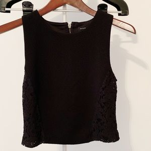 "Banana Republic Black 16"" Crop Top  • XS"